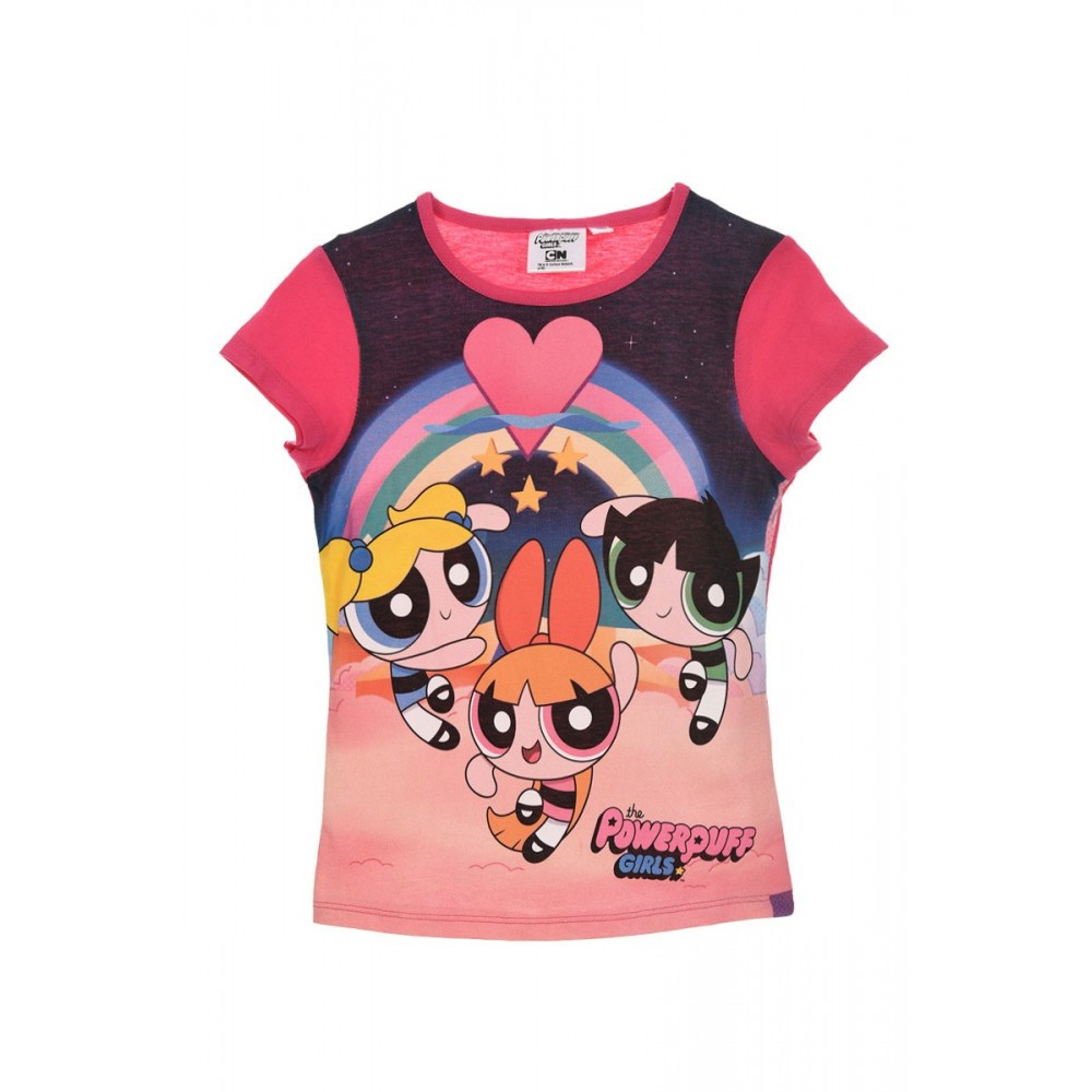 Camiseta the PowerPuff Girls niña infantil manga corta