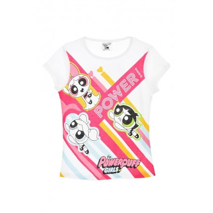 Camiseta the PowerPuff Girls Power! niña infantil manga corta