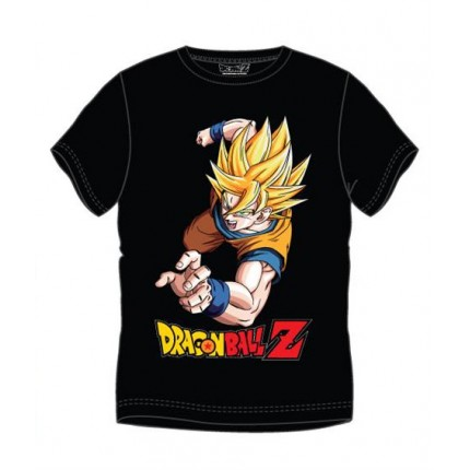 Camiseta Dragon Ball Z Goku Super Saiyan Adulto manga corta