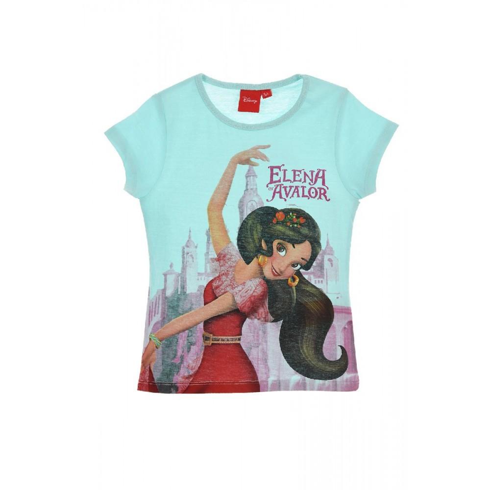 Camiseta Elena of Avalor niña manga corta Verde Agua
