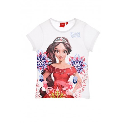 Camiseta Elena of Avalor niña manga corta Blanco