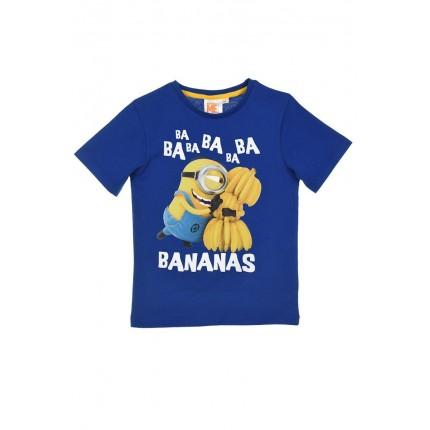 Camiseta Minios Total niño manga corta Bananas Azul