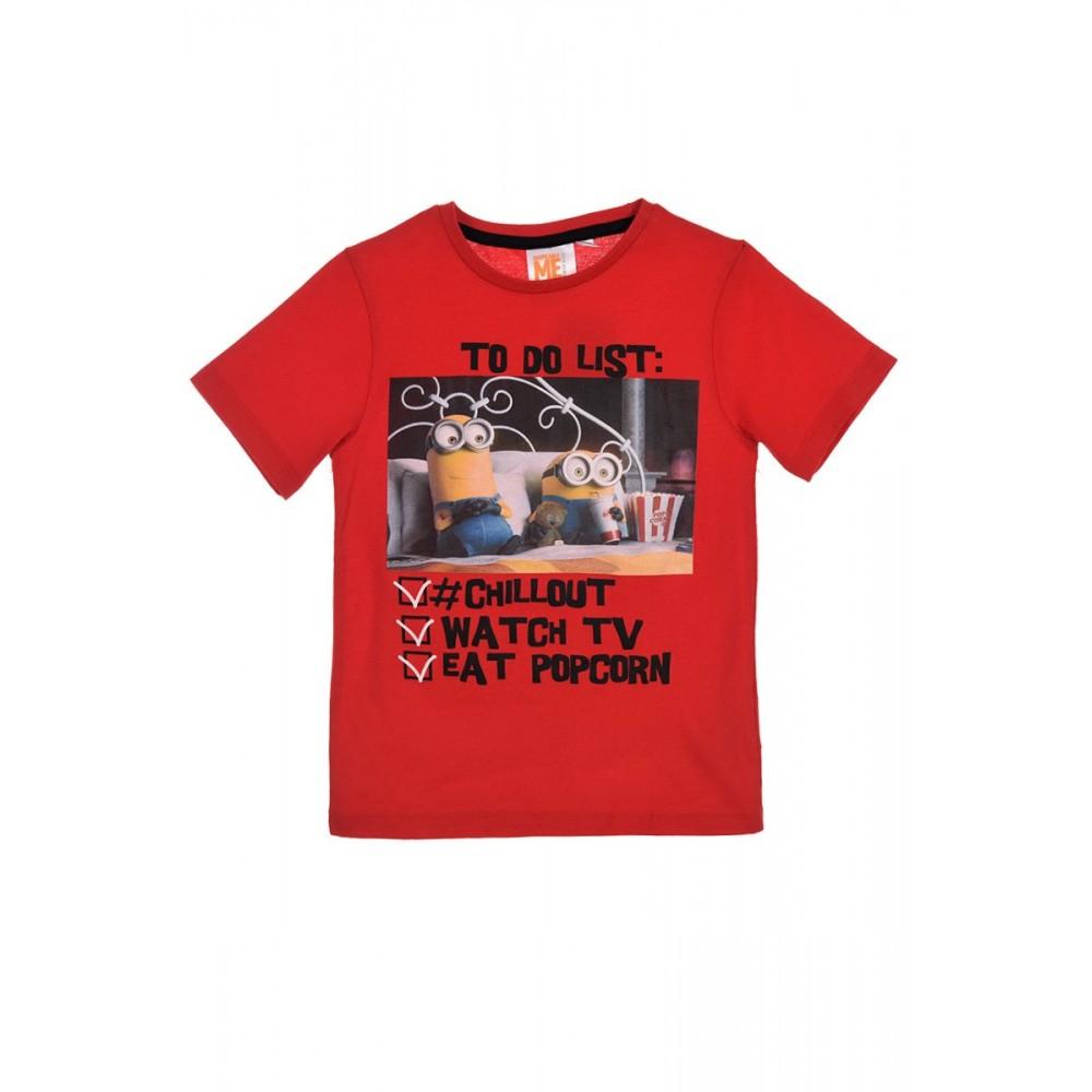 Camiseta Minios Total niño manga corta Rojo