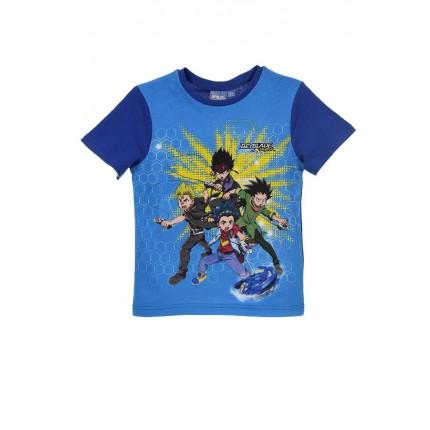 Camiseta BayBlade Burst niño infantil manga corta Azul