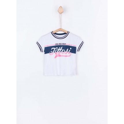 Camiseta Tiffosi Kids Shine niña junior top corto