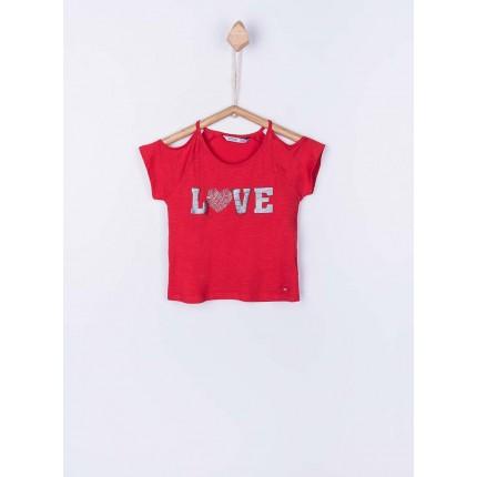 Camiseta Tiffosi Kids Paulina niña junior hombros descubiertos