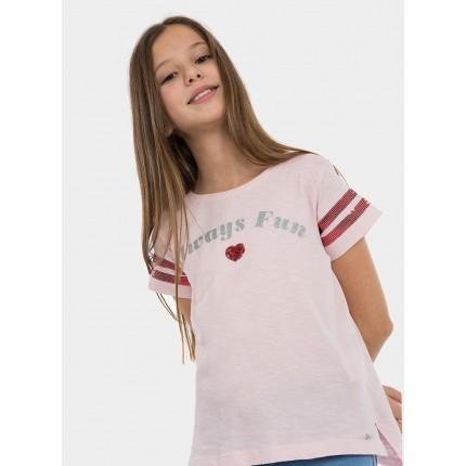 Detalle Camiseta Tiffosi Kids Ginger niña junior manga corta