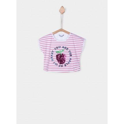 Camiseta Tiffosi Kids Marni niña junior manga corta lentejuelas