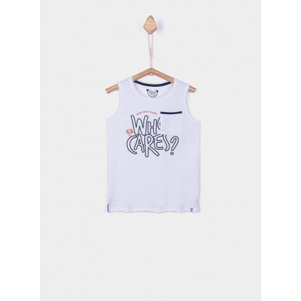 Camiseta Tiffosi Kids Mamun niño junior tirantes Blanco