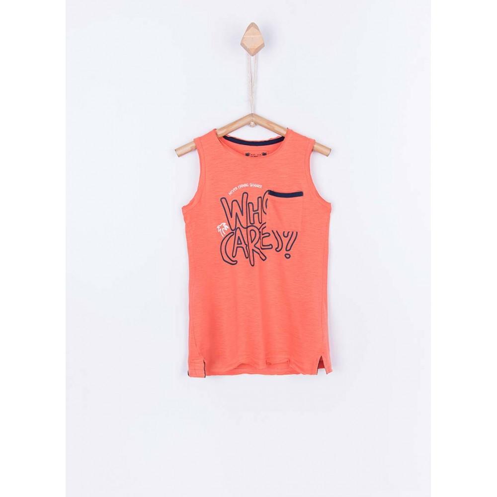 Camiseta Tiffosi Kids Mamun niño junior tirantes Naranja
