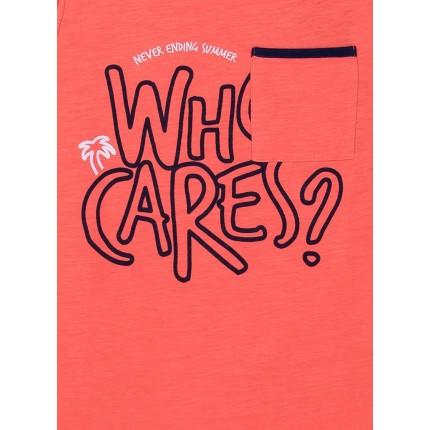 Detalle estampado Camiseta Tiffosi Kids Mamun niño junior tirantes Naranja