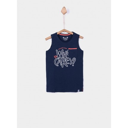 Camiseta Tiffosi Kids Mamun niño junior tirantes Azul medieval