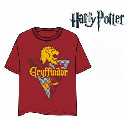 Camiseta Harry Potter Gryffindor adulto manga corta