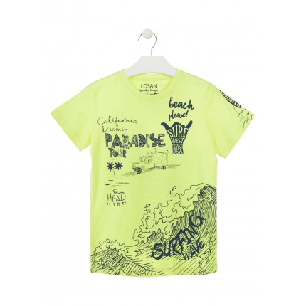 Camiseta Losan niño Paradise junior manga corta