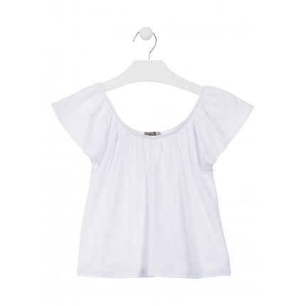 Camiseta Losan niña junior hombros descubiertos básica