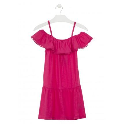 Vestido Losan niña junior hombros descubiertos tirantes
