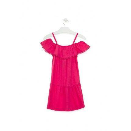 Espalda Vestido Losan niña junior hombros descubiertos tirantes