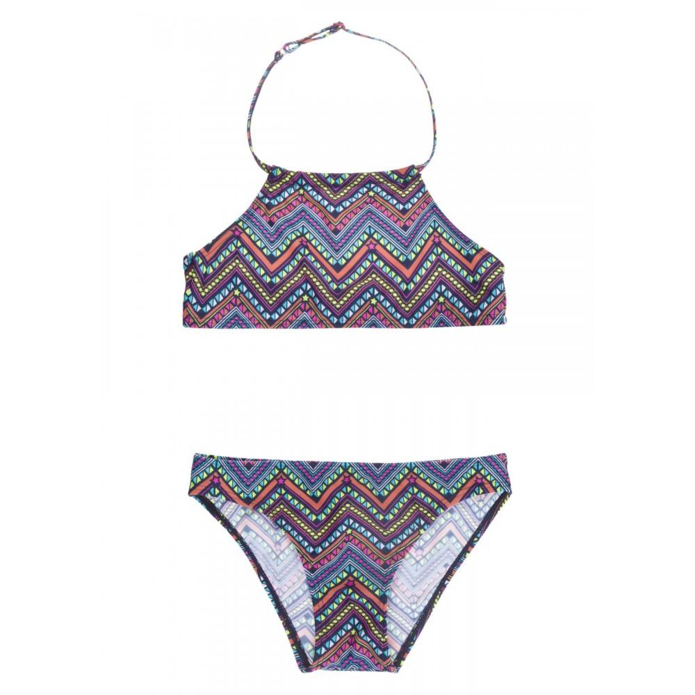 Bikini Losan niña Etnico junior top atado al cuello