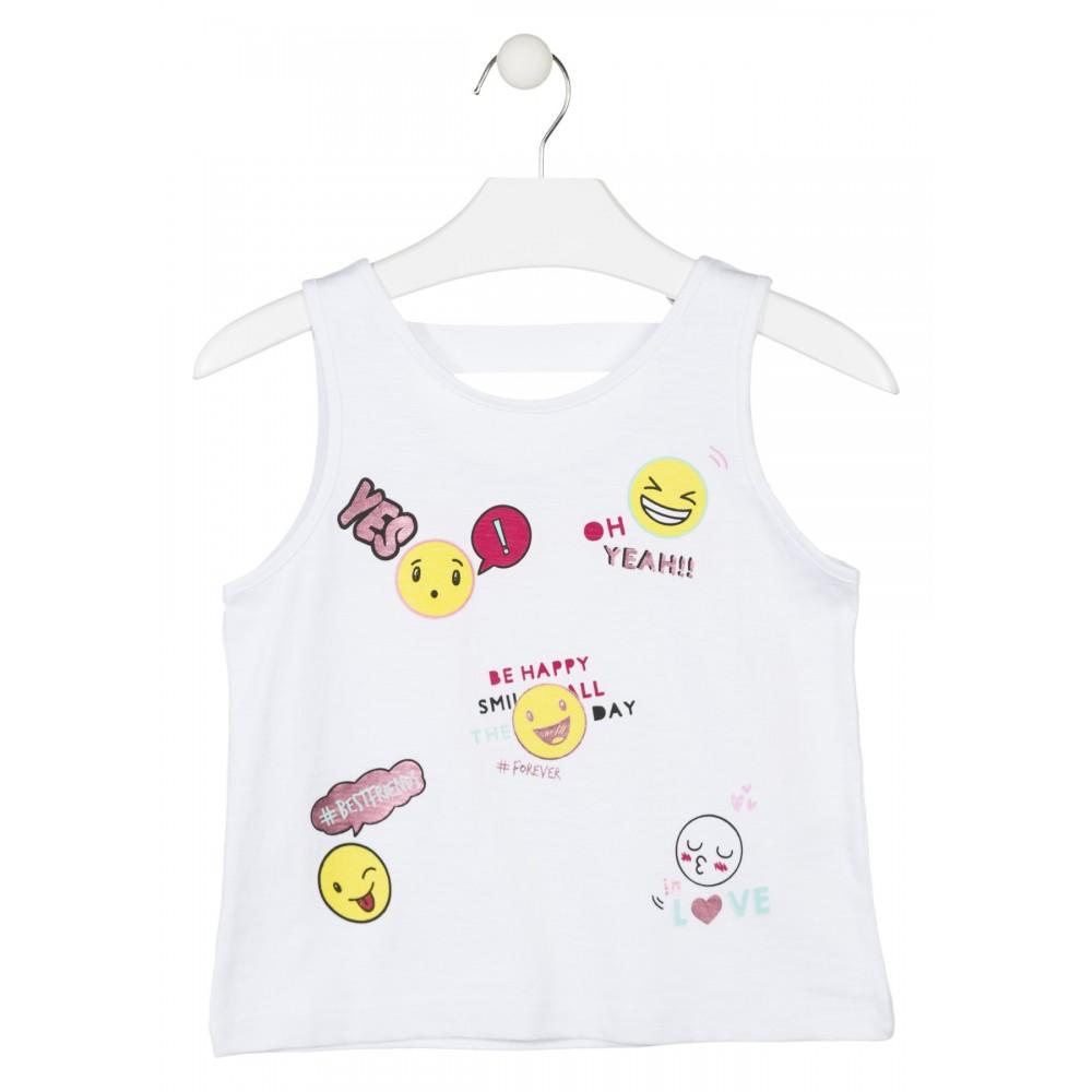 Camiseta Losan niña Oh Yeah! junior tirantes
