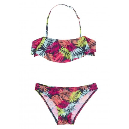 Bikini Losan niña hojas de colores junior top