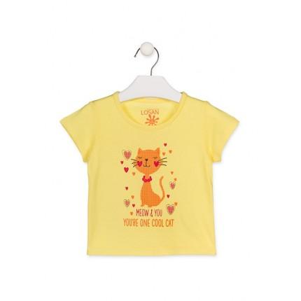 Camiseta Losan Kids niña Cool Cat infantil manga corta