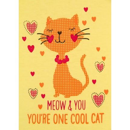 Detalle estampado Camiseta Losan Kids niña Cool Cat infantil manga corta