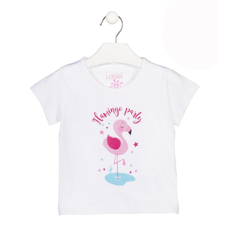 Camiseta Losan Kids niña Flamingo Party infantil manga corta
