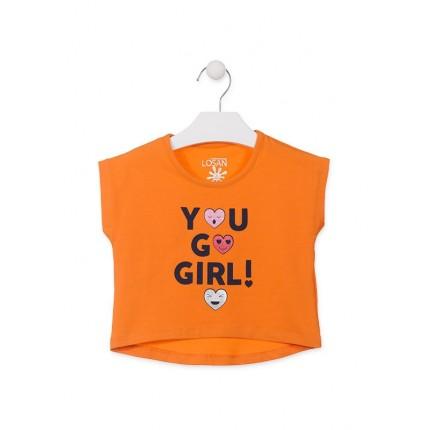 Camiseta Losan Kids niña You go girl! infantil manga corta