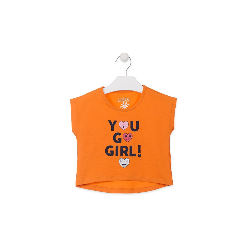 Camiseta Losan Kids niña You go girl! infantil manga corta