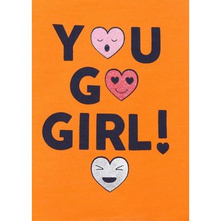 Detalle estampado Camiseta Losan Kids niña You go girl! infantil manga corta