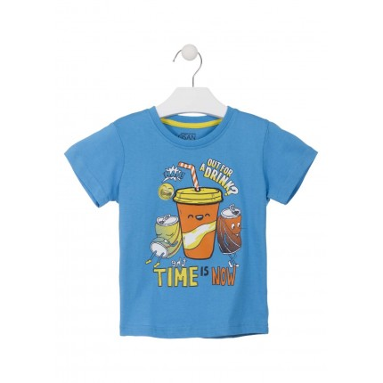 Camiseta Losan Kids niño The time is now infantil manga corta