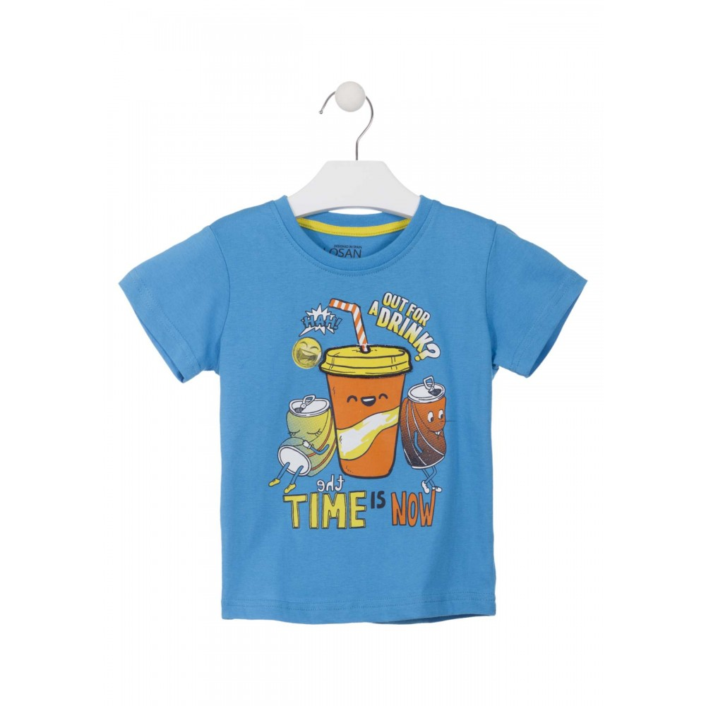 Camiseta Losan Kids niño The time is now infantil manga corta