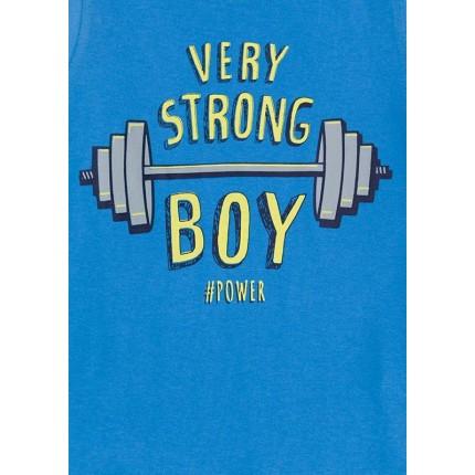 Detalle estampado Pijama Losan Kids niño Very Strong Boy infantil tirantes