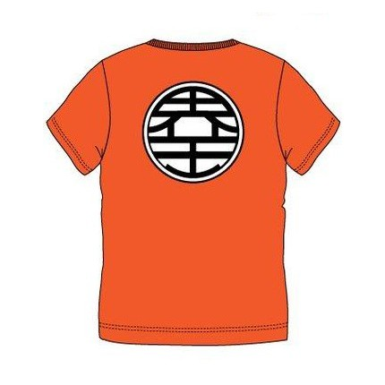 Espalda Camiseta Dragon Ball Kanji adulto manga corta
