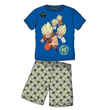Pijama Dragon Ball Super Saiyan niño manga corta Azul