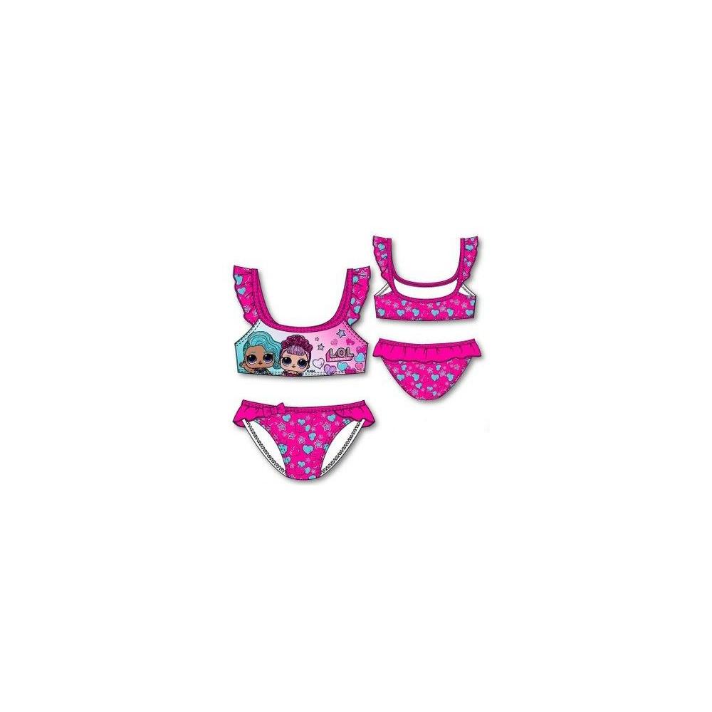 Bikini LOL niña infantil top y braguita Fucsia