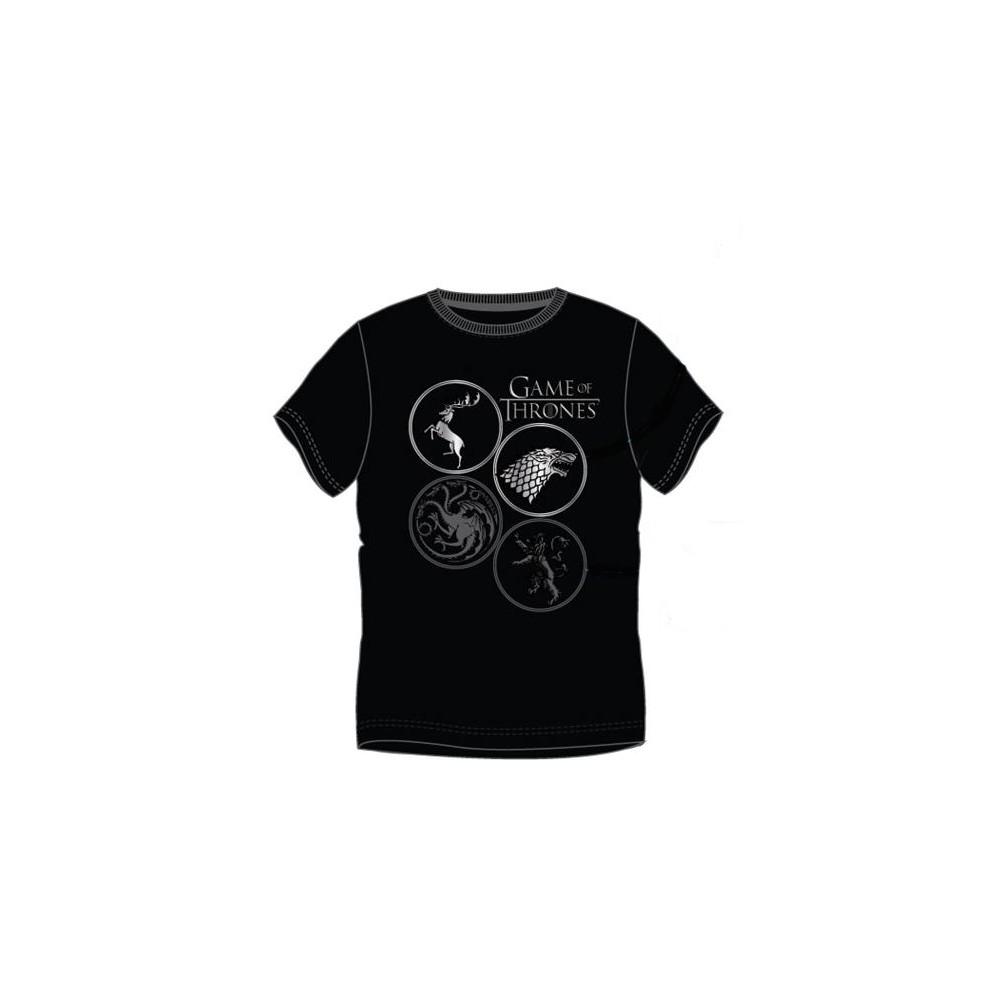 Camiseta Juego de Tronos Escudos adulto manga corta