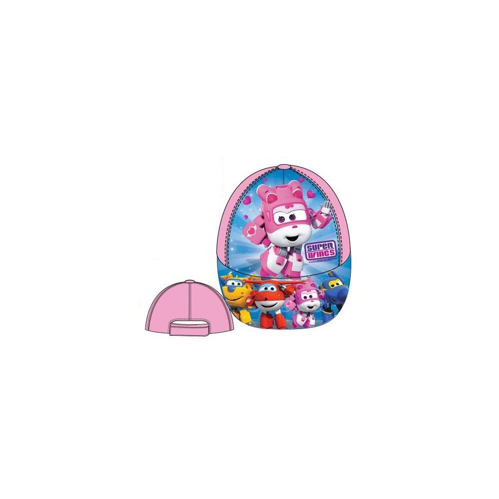 Gorra SUPER WINGS niña infantil con blecro rosa