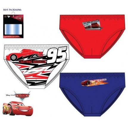 Slips CARS niño infantil Disney pack de 3 Rayo McQueen