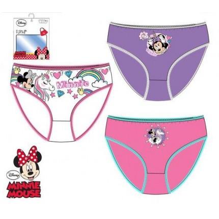 Bragas Minnie niña infantil Disney pack de 3