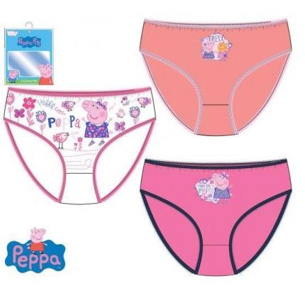 Braguita Peppa Pig niña infantil pack de 3 Talla 2/3