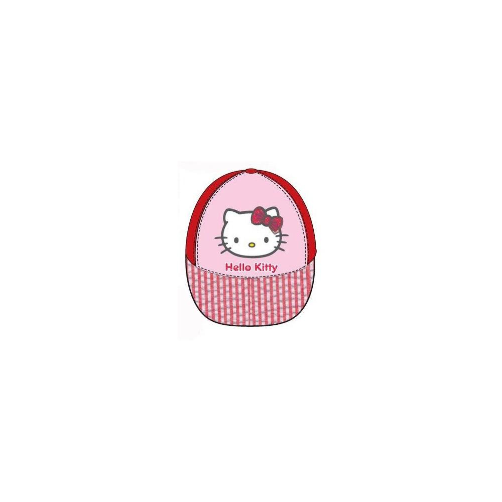 Gorra Hello Kitty niña bebe belcro Rojo