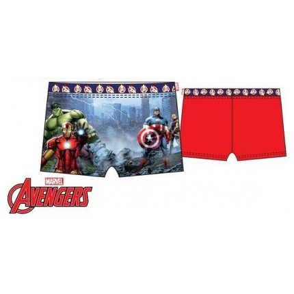 Bañador Vengadores Boxer niño infantil Marvel Rojo