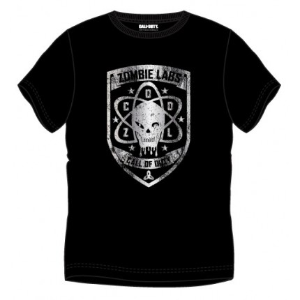 Camiseta Call of Duty Zombie Labs adulto manga corta
