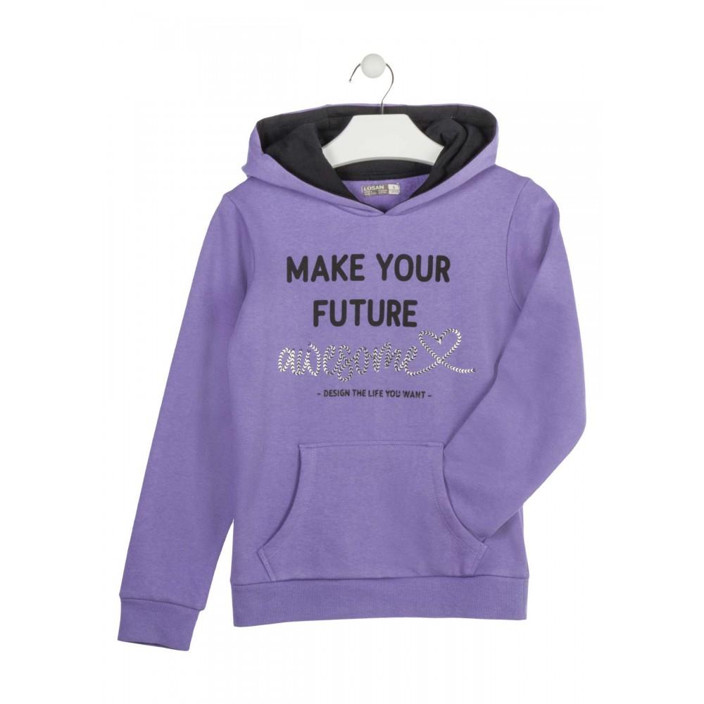 Sudadera Losan niña junior Make your Future capucha canguro