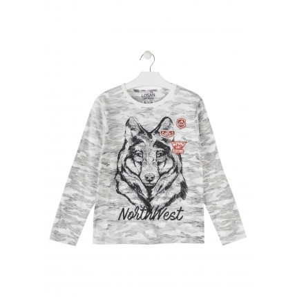 Camiseta Losan niño junior North West manga larga
