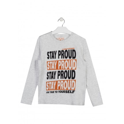 Camiseta Losan niño junior Stay Proud manga larga