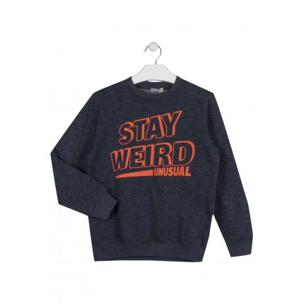 Sudadera Losan niño junior Stay Weird puño