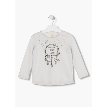 Camiseta Losan Kids niña infantil Dreams Happen manga larga