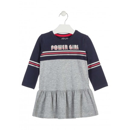 Vestido Losan Kids niña infantil Power Girl manga larga